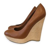 Ysl Brown Wedges - sz 8