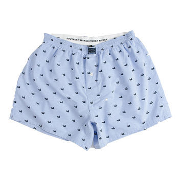 Hanover Oxford Boxers in Light Blue by Southern Marsh