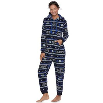 Juniors' SO® Plush One-Piece Pajamas | null