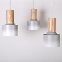 Pendant lighting // hanging grey ombre // recycled // task // kitchen // dining