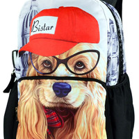 Lovely Dog Print Small Backpack
