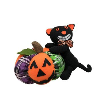 1pc Cute Pumpkin Ghost Black Cat Doll Toy for Party Decor Halloween Party Doll Decor Halloween Party DIY Doll Toy Party Supplies