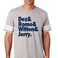 Dez and Romo and Witten Dallas Cowboys Mens Football T Jersey   Customized Dallas Cowboys Tee   Dallas Cowboy Matching Tee   NFL Tshirts