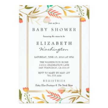 Baby Shower | Colorful Autumn Flowers