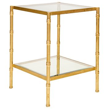 Worlds Away Serena Bamboo Side Table