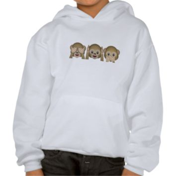 Three Wise Monkeys Emoji Pullover