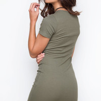 On My Own Dress - Olive