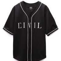 Civil - Lindsay Lohan 86 Baseball Jersey - Mens Tee - Black