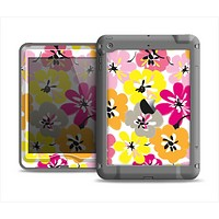 The Bright Summer Brushed Flowers  Apple iPad Mini LifeProof Nuud Case Skin Set