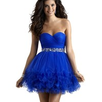 Short Baby Doll Tulle Homecoming Formal Dress 2303