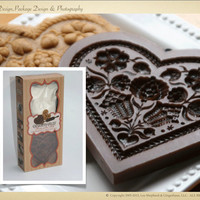 Gingerhaus - House on the Hill Gingerbread Pomegranate Heart Cookie Press Kit