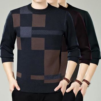 Mens Stylish Abstract Patterned Sweater