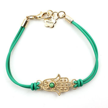 SALE: Hamsa Bracelet, Evil Eye Bracelet / Mint Bracelet, Bridesmaids Jewelries, Friendship Birthday Christmas Gift, Trending Accessories