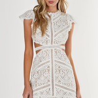 Sweet Doily Crochet Dress