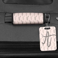 Blush and Grey Luggage Handle Wrap, Bag Tag, Personalized Luggage, Travel Gifts, Graduation Gifts for her, Luggage Tag, Personalized bag tag