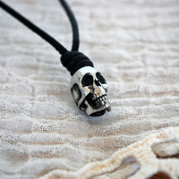Pewter Skull Necklace