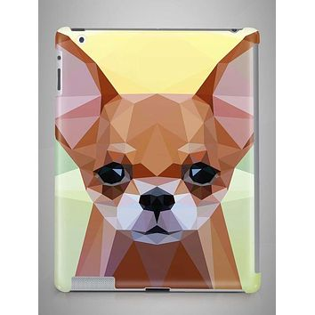 Geometric Chihuahua iPad Case iPad Mini Case iPad