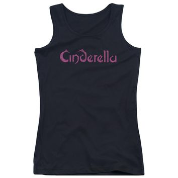 Cinderella - Logo Rough Juniors Tank Top