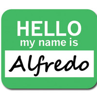 Alfredo Hello My Name Is Mouse Pad