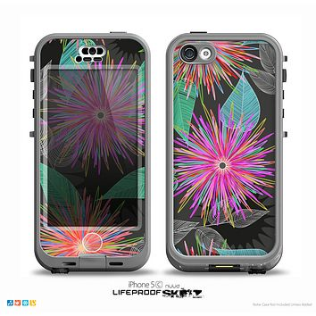 The Bright Colorful Flower Sprouts Skin for the iPhone 5c nüüd LifeProof Case