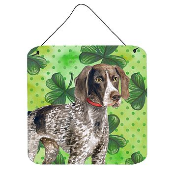 German Shorthaired Pointer St Patrick's Wall or Door Hanging Prints BB9815DS66