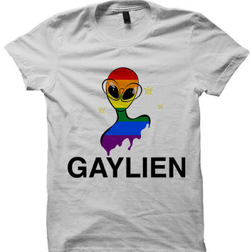 Gay Pride T-shirt Gaylien Shirt
