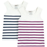 Junior Gaultier Girls Striped Tank Tops Two-Pack