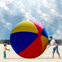 Hot Sale Charm Super Large Colorful Inflatable Beach Ball Pool Swimming Ball Outdoor Play Games Ball 78.74 inches PVC