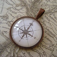 Compass Pendant III by ivcreations55 on Etsy