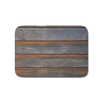 Autumn Fall welcome door mat doormat Rustic Wood Panel Boards Aged In Wyoming Bath Mat Entrance  Bathroom Kitchen Carpets s for Living Room AT_76_7