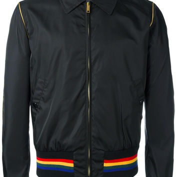 Rainbow Stripe Bomber