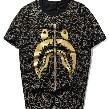 Hip-hop Short Sleeve T-shirts Camouflage Bottoming Shirt [424529723428]