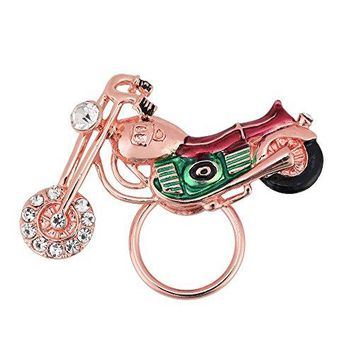 CHUANGYUN Motorcycle Bike Chopper Magnetic Metal Eyeglass Holder with Colored Glaze and Rhinestone