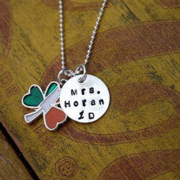 NEW Irish Flag  I love Niall Horan One Direction  British Flag Charm Necklace Pendant