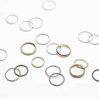 Free People Womens Classic Band Ring Set