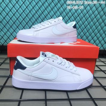 HCXX N159 Nike Tennis Classic AC Leather Casual Skeat Shoes White Black