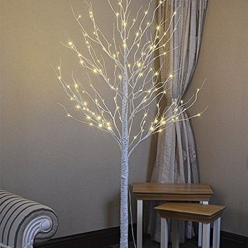 Lightshare 132L LED Birch Tree, 8-Feet