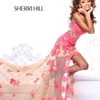 Sherri Hill 21161 High Low Lace Prom Dress