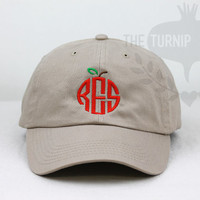 Teacher Monogram Baseball Cap - Custom Color Hat and Embroidery