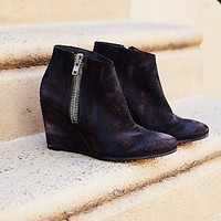Free People Womens Orlanda Zip Wedge Boot