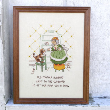 Old Mother Hubbard Children's / Kid's Room Decor Vintage Nursery Rhyme