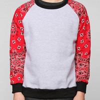 FUN Artists Paisley Block Pullover Sweatshirt  - Urban Outfitters