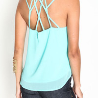 STRAPPY WOVEN CAMI TOP