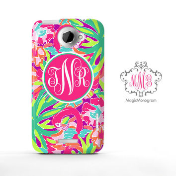 Resort Lulu Worth Celebrating Lilly Pulitzer Monogram HTC Case M9, M8 Case