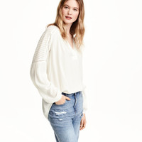 Crinkled Blouse - from H&M
