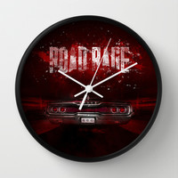 Road rage Wall Clock by HappyMelvin
