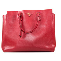 Red Saffiano Leather Purse