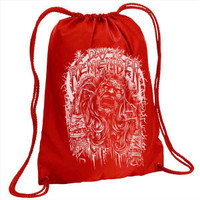 A Day To Remember Out To Get Me Drawstring Backpack Red