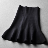Winter skirt new wild solid color high waist Slim skirt