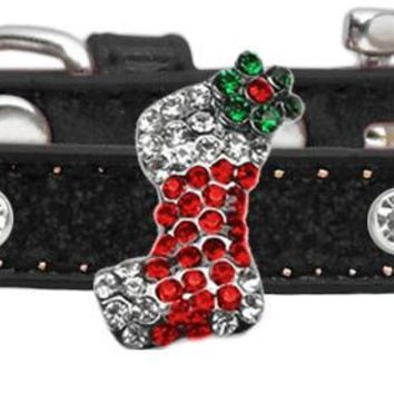 Holiday Charm Dog Collar Black Ice Cream Size 16 Red Stocking